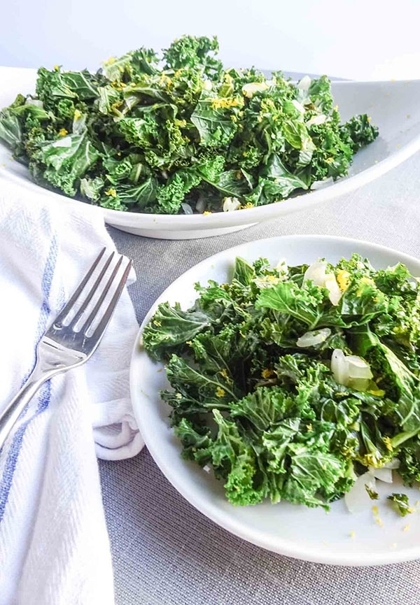 This foolproof simple sauteed greens recipe takes less than 10 minutes from prep to table. Perfect weeknight side dish and will please any vegan. You can use any green you have on hand inlcuding kale, spinach, arugla, swiss chard or bok choy. \ peelwithzeal.com