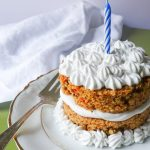 healthy carrot cake maple frosting