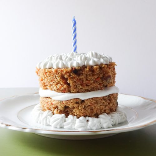 Sensational Healthy Carrot Cake With Maple Frosting Peel With Zeal Personalised Birthday Cards Bromeletsinfo