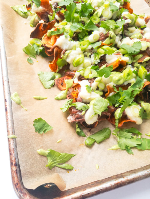 sweet potato beef nachos