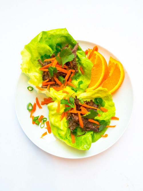 Easy crock pot citrus shredded beef with a Caribbean inspiration is perfect on its own or on your favorite taco or lettuce wraps. Whole30, Wahls, AIP, Paleo, quick weeknight dinner recipe. peelwithzeal.com