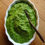 Garlicky ramp pesto