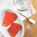 Simple brine and roast strategy for perfect salmon every time! Get rid of that white residue that comes out of salmon. Peelwithzeal.com #peelwithzeal #salmon #recipe #glutenfree #sugarfree #dairyfree #whole30 #paleo #keto