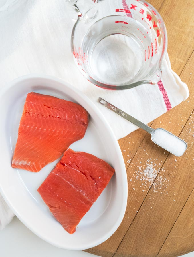 Get Rid of the White Stuff- Brine and Perfectly Roast Salmon