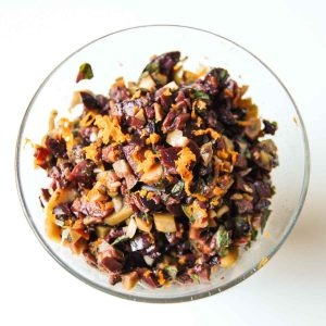 olive tapenade in a bowl