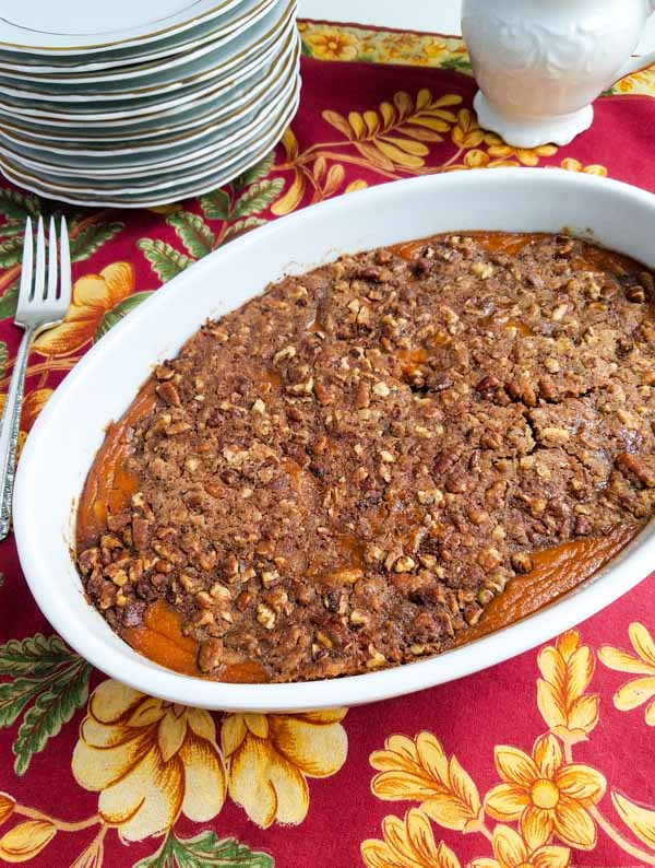 Healthy Sweet Potato Crunch Casserole