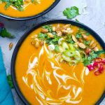 Pumpkin soup with coconut milk