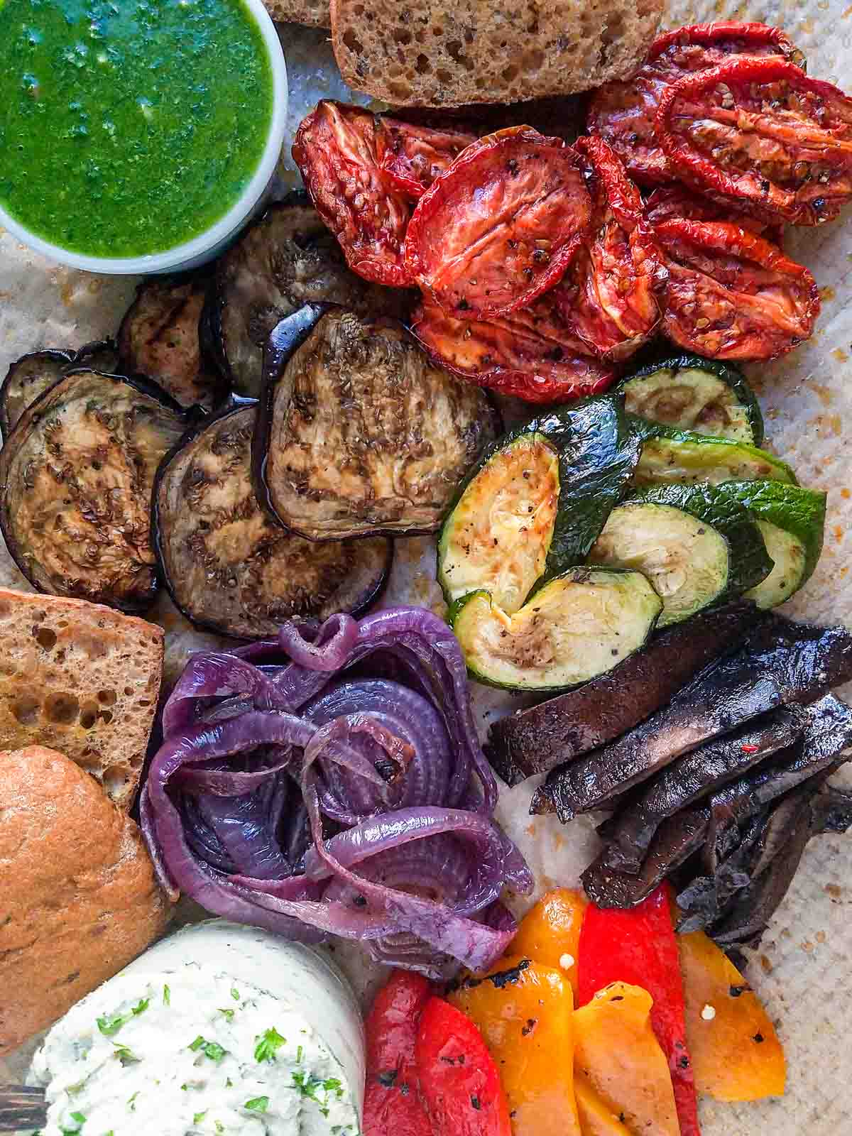 mixed vegetables on a tray