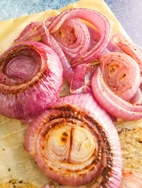 oven roasted red onion