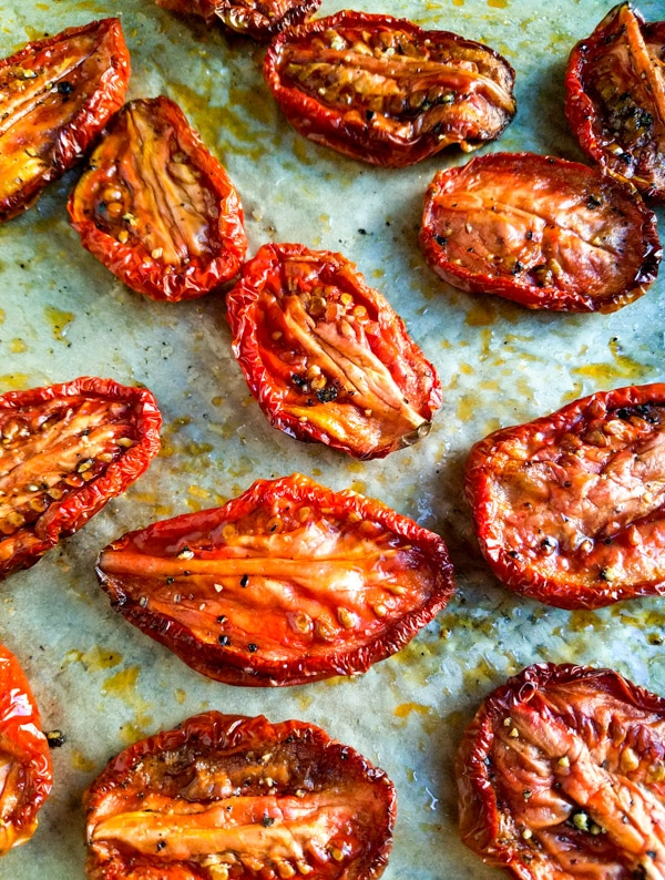 slow roasted roma tomatoes