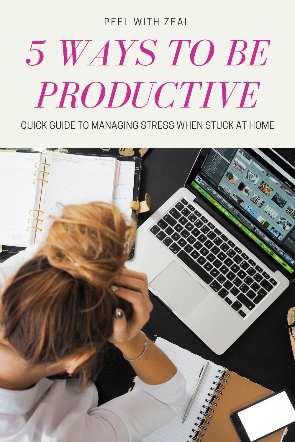 Five quick and easy ways to reduce stress, improve your confidence when stuck at home due to unemployment or other factors. These daily healthy habits can be done quickly so you can focus. #mentalhealth #selfcare #howtomangestress #productivity #healthyhabits