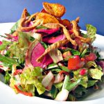 salad with fried sweet potatoes