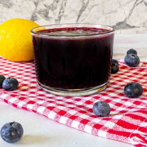 blueberry syrup recipe in jar