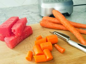 watermelon and carrots for dog pupsicle recipe