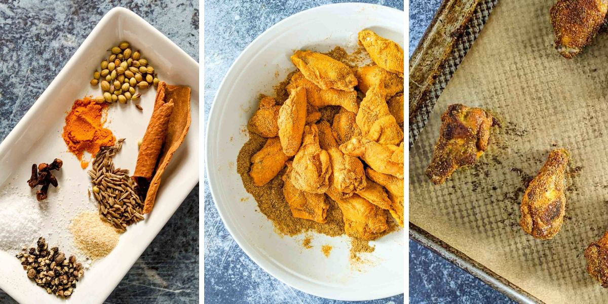 shawarma spices, breading chicken wings