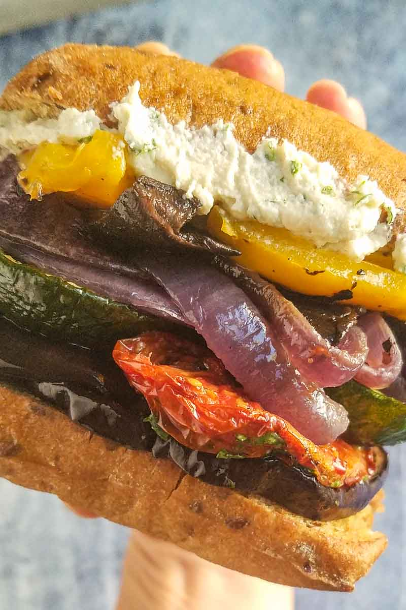 Roasted Eggplant sandwich recipe