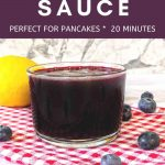 blueberry sauce pinterest graphic