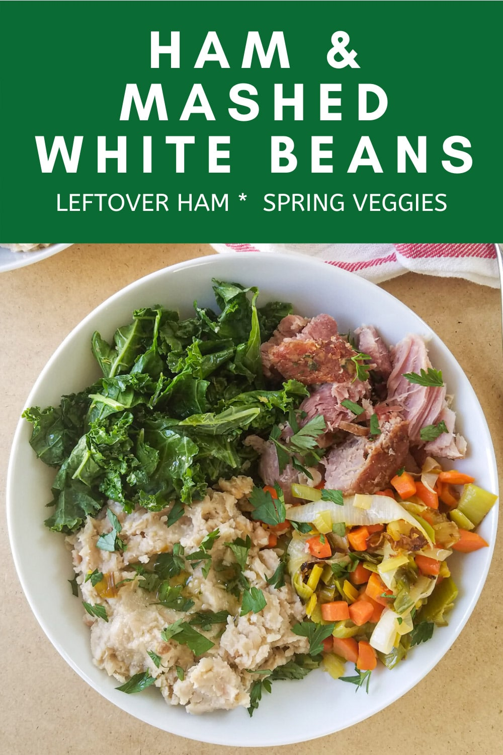 Ham and Mashed White Bean Lunch Bowl
