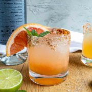 healthy mezcal cocktail in a glass
