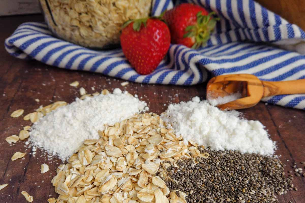 protein overnights oats blend