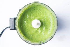 avocado sauce recipe in a food processor