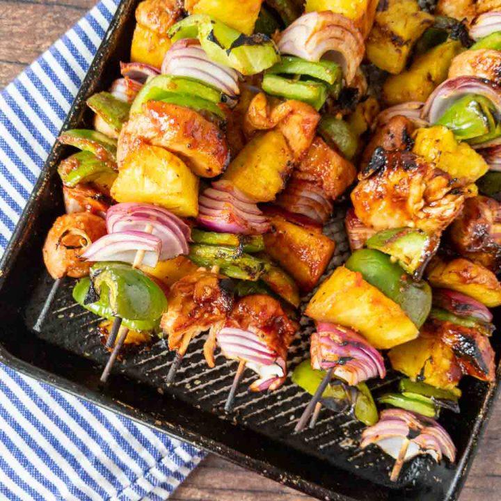 grilled huli huli chicken on a platter
