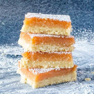 lemon bars stacked