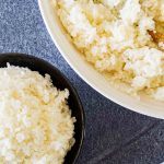homemade sushi rice in bowl
