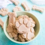 frozen dog treats in a bowl
