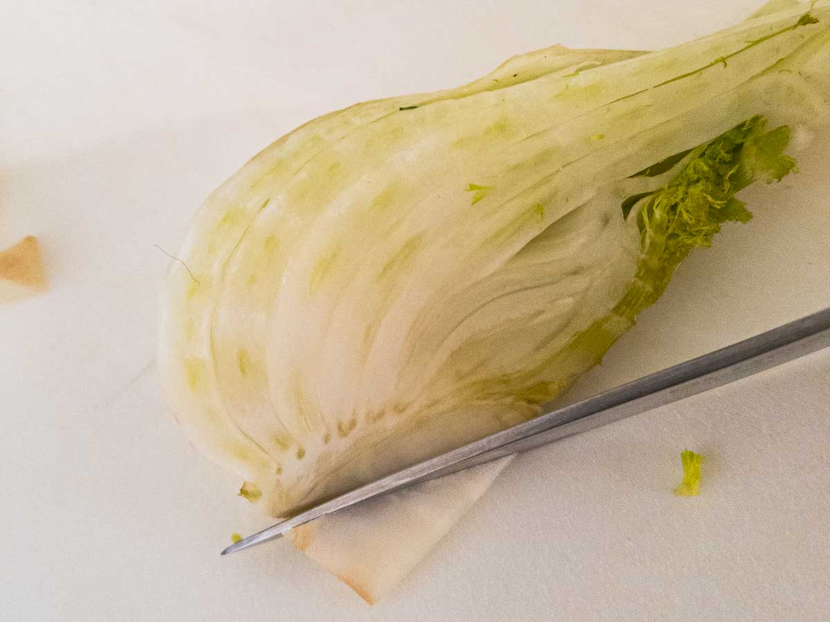 how to remove the core from fennel