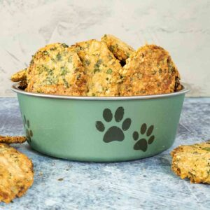 dog treats for bad breath in a bowl