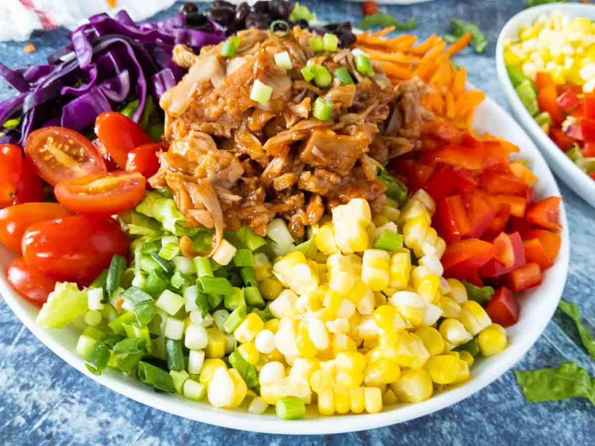 close up of jackfruit salad