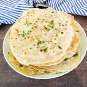 unleavened flatbreads on a plate