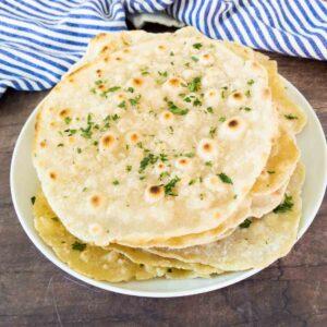 unleavened flatbreads on a plate