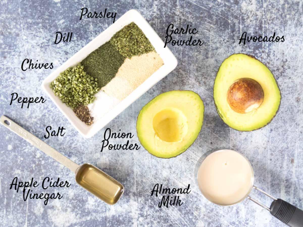 avocado-ranch-dressing-ingredients