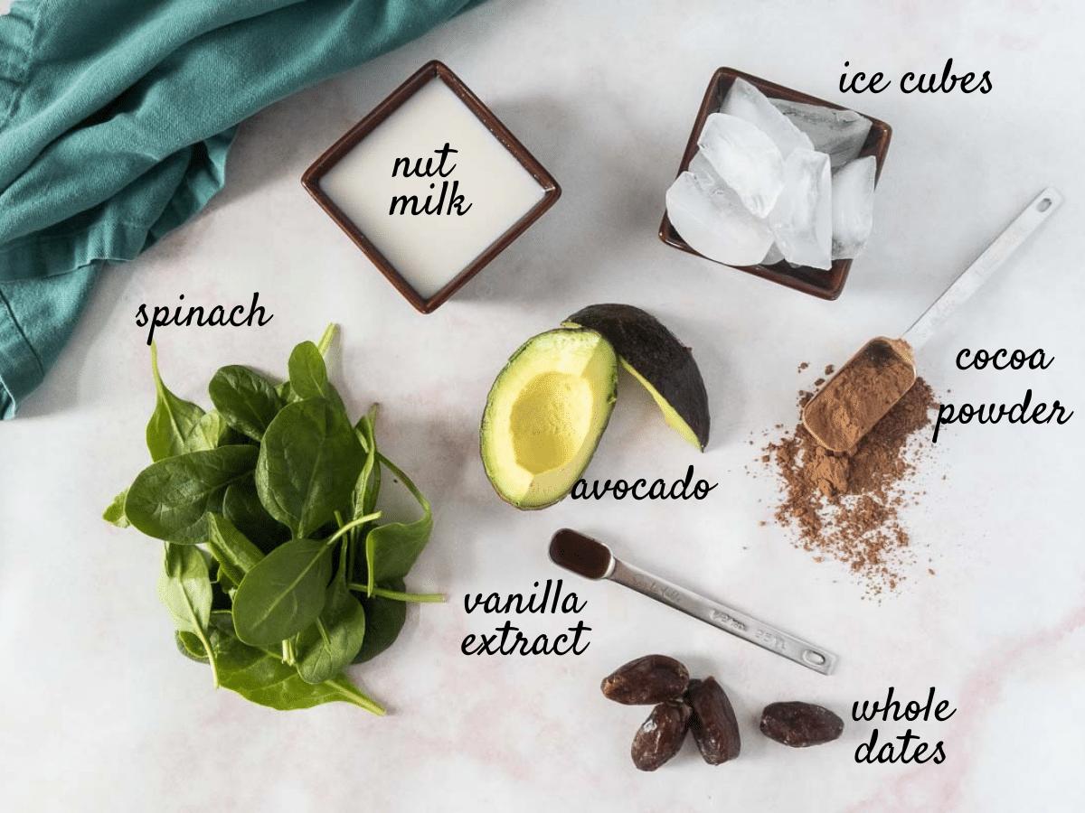 Healthy Chocolate Shake Ingredients