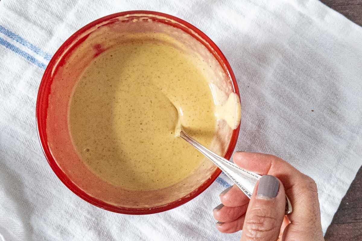 honey mustard in bowl