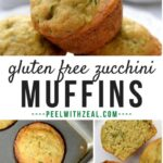 gluten free zucchini muffin Pinterest graphic