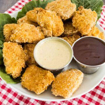 gluten free chicken nuggets on a plate