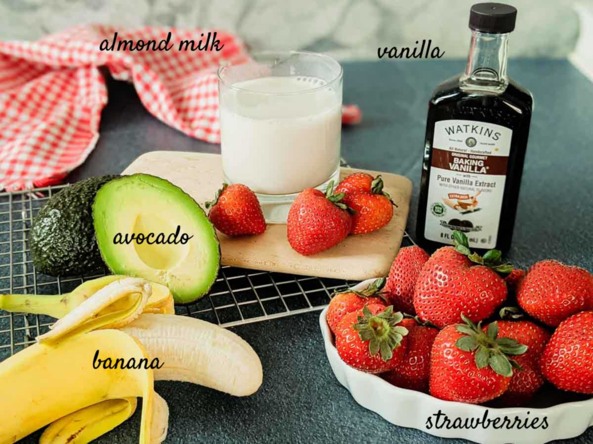 ingredients for smoothie on counter