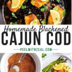 cajun cod recipe in cast iron skillet
