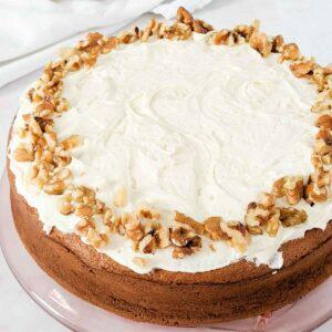 gluten free banana cake on a plate
