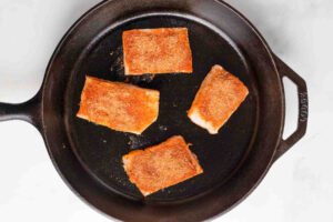 cod in cast iron skillet