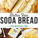 gluten free soda bread photo collage