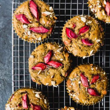 oat muffins on wire rack