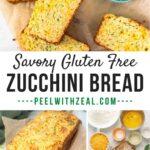 gluten free zucchini bread on cutting board