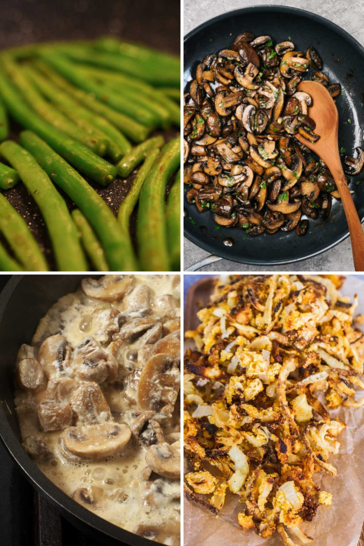 step by step photos for making gluten free green ban casserole from scratch
