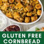GF cornbread in bowl
