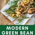 gluten free green bean casserole on a plate