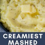 small batch mashed potatoes pin